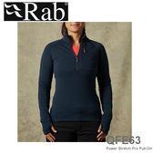 【速捷戶外】英國 Rab QFE63 POLARTEC 女彈性保暖排汗衣(深墨藍)53831, 登山,賞雪,保暖,旅遊