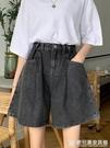夏季2020新款復古港味寬鬆捲邊褲子薄款寬管短褲高腰牛仔褲女 『歐尼曼家具館』