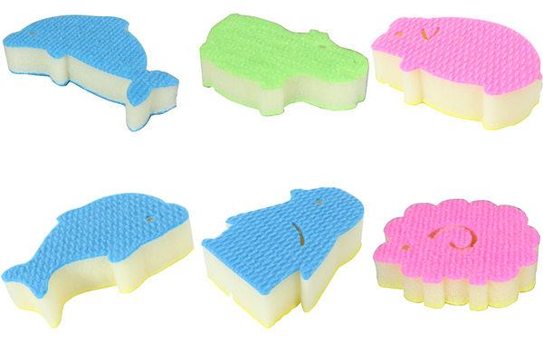 可愛動物造型纖維海綿(六款各1入/組)