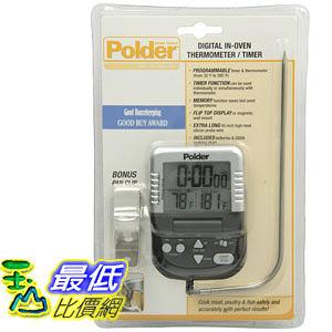 [2美國直購] Polder 烤箱溫度計 B000P6FLOY Graphite Digital In-Oven Thermometer Timer T17