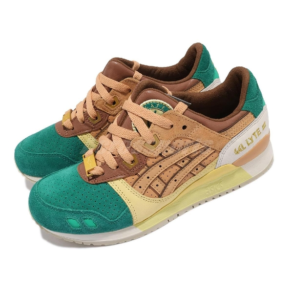 Asics 休閒鞋 24 Kilates X Asics Gel-Lyte III 綠 黃 橘 女鞋 聯名【ACS】 H8P4K7821