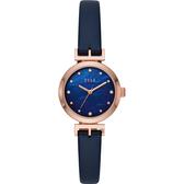 ELLE ODEON 系列優雅小錶徑女錶-珍珠貝x藍色錶帶/26mm ELL21005