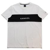 KANGOL 短袖 短T 白藍 橫條色塊 刺繡 袋鼠 棉 男 (布魯克林) 6021101000