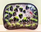 【震撼精品百貨】Hello Kitty 凱蒂貓~Hello Kitty日本SANRIO三麗鷗KITTY透明化妝包/筆袋-草莓黑*79237