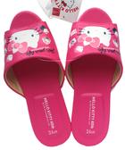 【卡漫城】 Hello Kitty 皮革 室內 拖鞋 45週年 24cm ㊣版 成人 室內拖 止滑 凱蒂貓 氣墊