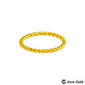 Jove Gold漾金飾 適度留白黃金戒指