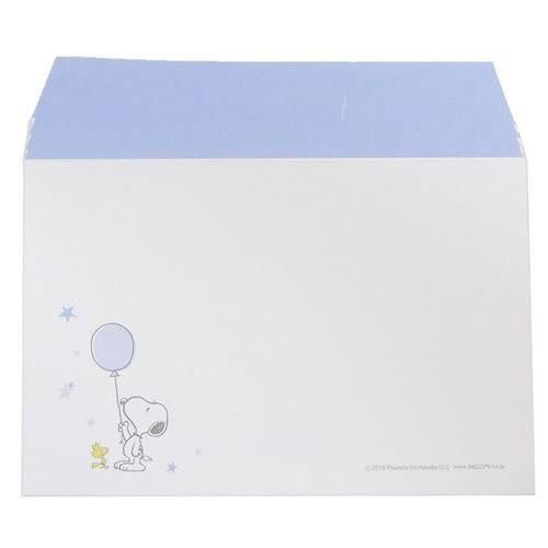 SNOOPY日本製極簡童趣信紙組S(氣球藍)★funbox★KAMIO_KM08523