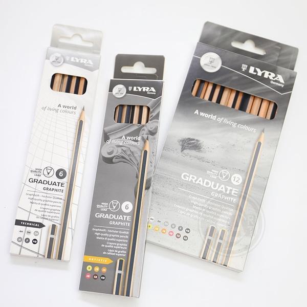 『ART小舖』Lyra德國 Graduate Graphte學院石墨鉛筆12支入 單盒