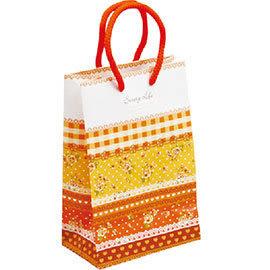 《荷包袋》手提紙袋大8K 銅版雙牛 玫瑰園-橙 彩色