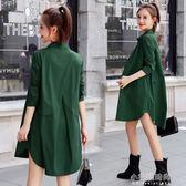 休閒薄款小個子風衣女式中長款寬鬆春初秋季長袖外套『小宅妮時尚』