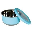 TEDEMEL 圓形不鏽鋼保鮮盒(防滑) 730ml【康鄰超市】