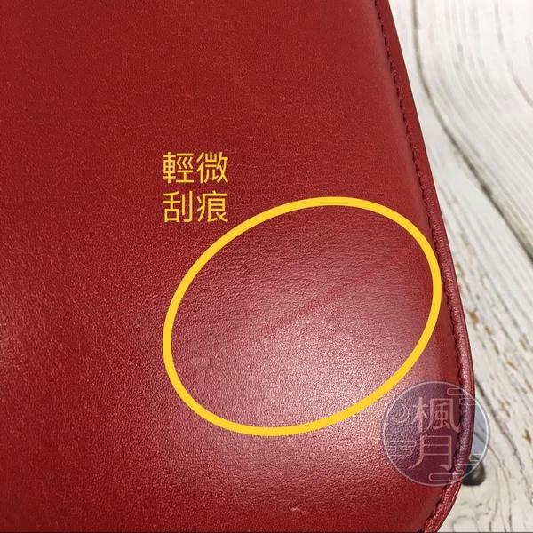 BRAND楓月 CELINE Classic BOX 紅色 中款 側背包 斜背 手拿包