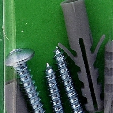 133塑膠壁虎附翼附螺絲6mm