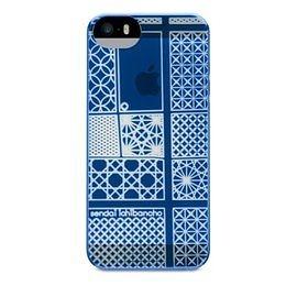 【唐吉商城】POWER SUPPORT iPhone 5/5S 專用 Air Jacket Kiriko 江戶切子保護殼 - 仙台藍(PSCM)
