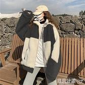 羊羔毛外套 羊羔毛外套女秋冬2021新款百搭寬鬆加絨加厚開衫立領保暖棉衣棉服 寶貝計畫