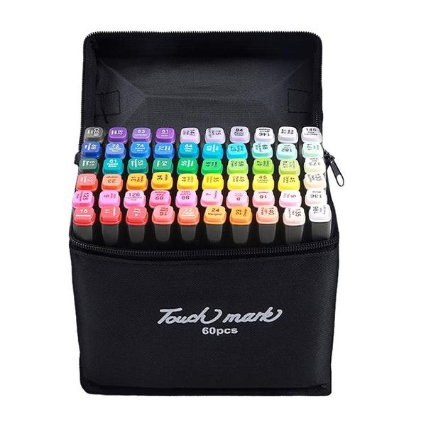 Touch mark油性雙頭馬克筆手繪設計套裝學生彩色筆馬克筆套裝動漫學生繪畫彩筆畫筆30/40/60/80/168色
