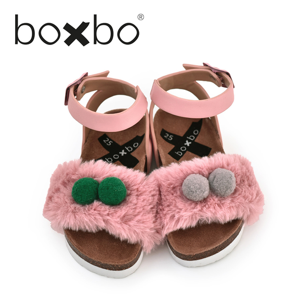 BOXBO 法國 兒童涼鞋 粉紅泡泡-煙燻玫瑰(大童款30-37)