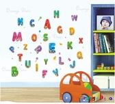 壁貼【橘果設計】ABC DIY組合壁貼/牆貼/壁紙/客廳臥室浴室幼稚園室內設計裝潢