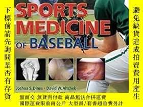 二手書博民逛書店Sports罕見Medicine of Baseball (塑封