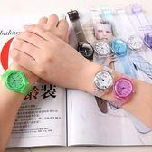 正韓簡約時尚透明手錶女韓國男女學生原宿風可愛兒童錶WY
