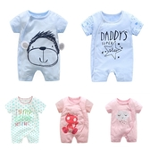 嬰兒短袖連身衣 春夏兔裝 寶寶童裝 (LZ22355) 好娃娃