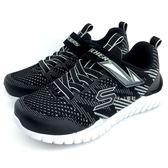 《7+1童鞋》中大童 SKECHERS 97660LBKGY 輕量 休閒 慢跑 運動鞋 B966 黑色
