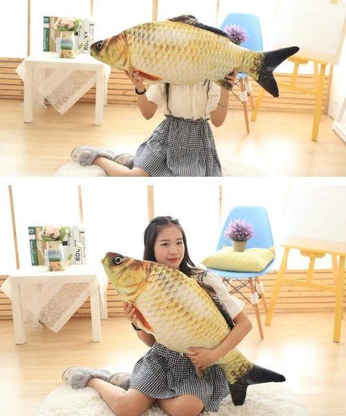 【現貨】 【100公分】魚抱枕 黃金魚 海中生物 仿真系列 絨毛娃娃 公仔 玩偶 生日禮物 擺設裝飾