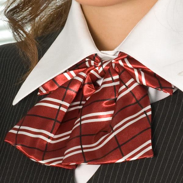 【LG-06】焦點魅力-甜美點綴OL時尚領結(紅底白條紋)