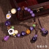 民族風手練子女復古風紫水晶瑪瑙手串學生閨蜜簡約花瓣裝飾品手飾 LR25379『毛菇小象』