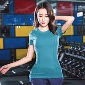YAHOO618◮新款瑜伽T恤女士運動速干透氣上衣時尚健身T恤修身顯瘦運動短袖 韓趣優品☌