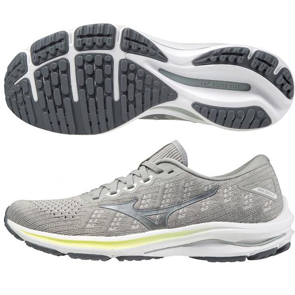 MIZUNO WAVE INSPIRE 17 WAVEKNIT 女鞋 慢跑 3E寬楦 支撐 編織 灰【運動世界】J1GD217793