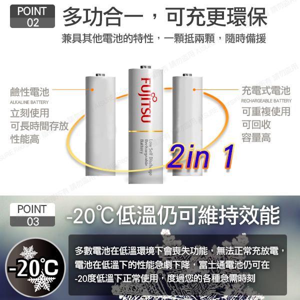 日本製 Fujitsu富士通 3號AA低自放電1900mAh充電電池HR-3UTC (3號12入)+專用儲存盒*3