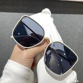 小紅書網紅大框茶色方框墨鏡女士遮臉顯瘦太陽鏡時尚街拍眼鏡潮 雙十二全館免運