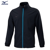 MIZUNO Slim FIT 男裝 外套 套裝 立領 平織 4WAY彈性 合身版型 黑【運動世界】32TC008609