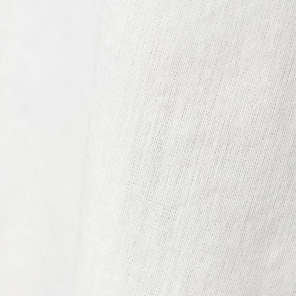 LOWRYS FARM素色條紋後交叉綁帶透膚落肩五分袖前短後長上衣-五色