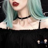 鎖骨鍊 歐美風 暗黑少女復古月牙鎖骨鍊脖鍊項圈頸鍊網紅