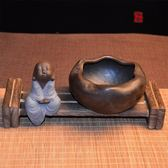 青瓷煙灰缸陶瓷創意時尚防風煙灰缸大號客廳辦公個性煙缸中式煙缸 范思蓮恩