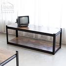 【WTA008】輕工業復古風免螺絲雙層木板角鋼大茶几桌/電視架 Amos