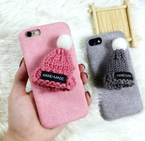【SZ34】iPhone 7/8 plus手機殼 韓國熱賣 立體毛線帽 i 6 plus iPhone 7/8 手機殼 i phone6s手機殼