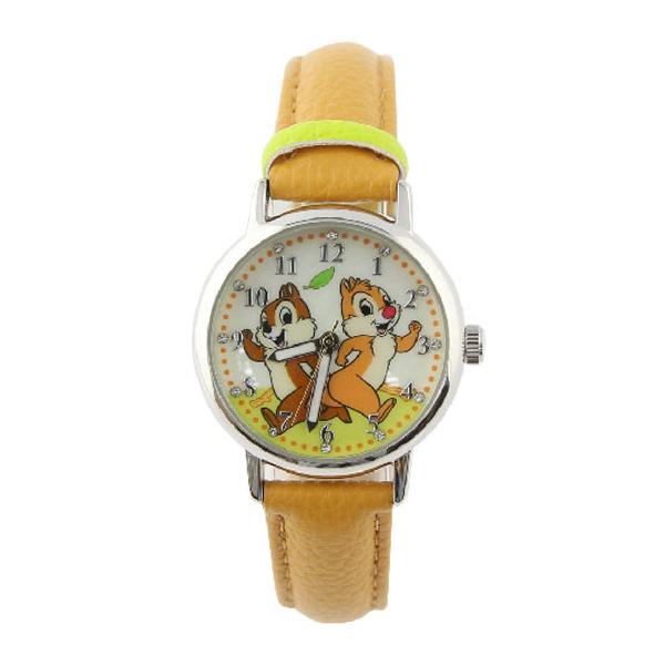 【Disney】奇奇蒂蒂|皮製錶帶兒童錶-經典黃/CD-3K2510U-001BN/原廠授權享一年保固