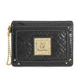 Crystal Ball 鑽飾金牌LOGO壓印名片夾(鐵灰黑色)167002
