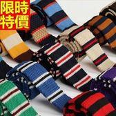 領帶 男士配件(任兩條)-條紋休閒平頭窄版手打領帶29色69d6[巴黎精品]
