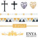 歐美流行 燙金金屬刺青紋身貼紙 Enya...