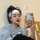 髮帶 運動發帶女韓國寬邊頭飾秋冬潮針織毛線頭套簡約純色洗臉壓發頭箍 夢藝家