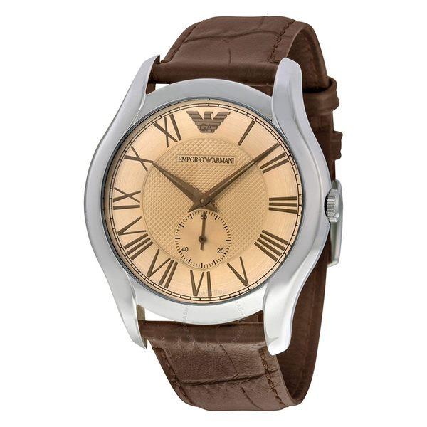 EMPORIO ARMANI 亞曼尼 Classic系列 經典琥珀色錶盤男錶AR1704 男錶女錶對錶情侶錶 送禮