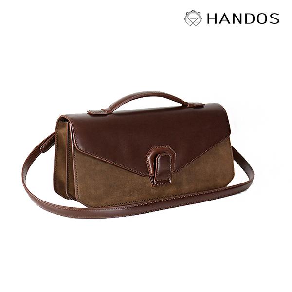 HANDOS Melodica 二層風琴肩背包 - 灌木棕 ↘76折