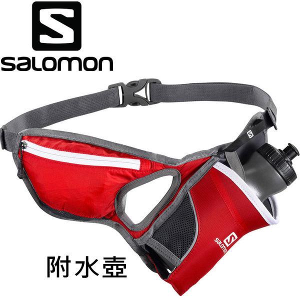 Salomon Hydro 45 Belt 健跑600ml水壺腰包-329124紅 /慢跑臀包/路跑馬拉松隨身包/短程登山健行