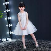 好康618 女童蓬蓬公主裙甜美可愛白色連衣裙