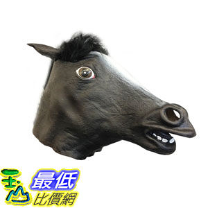 [103美國直購] 酷黑美人掩關馬 Black Beauty Horse Mask - Cool Masks - Off the Wall Toys