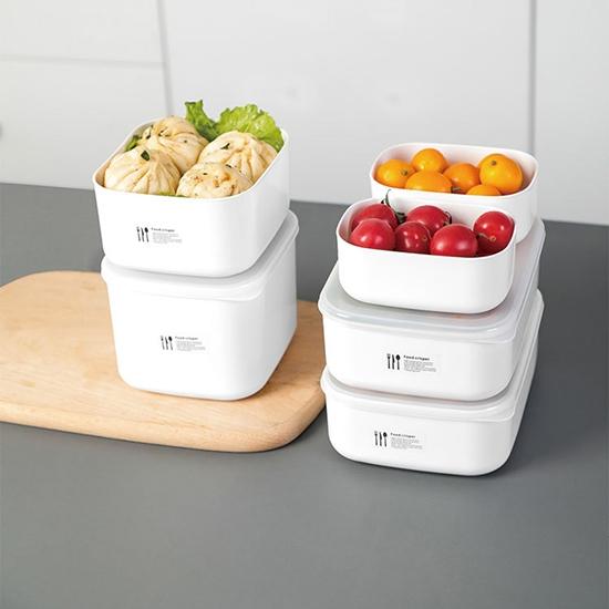 便當盒 保鮮盒 密封盒 收納盒 中 塑料盒 食材分裝 飯盒 分類 可微波 保鮮分裝盒【N391】慢思行
